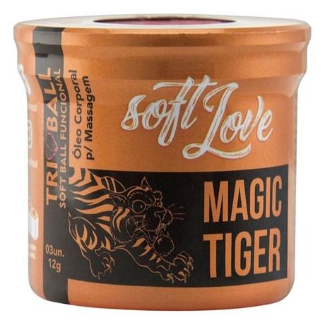 3 Unidades de Bolinha Magic Tiger Sensações 4 em 1 S02.K