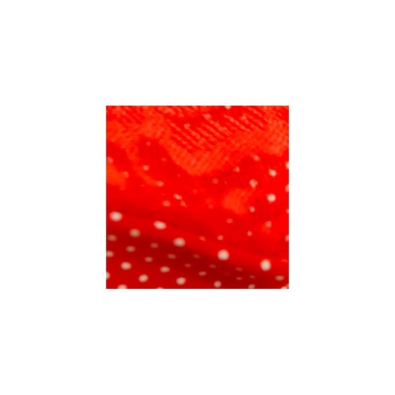 Baby Doll em Microfibra Fria com Detalhes em Renda e Laço O37.B VERMELHO BOLINHA