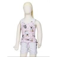 Baby doll infantil em malha com estampa de cachorrinho R02.B