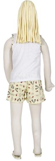 Baby doll infantil em malha com estampas variadas e chinelo R04.A