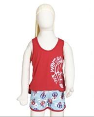 Baby doll infantil em malha estampada com elástico embutido R01.B