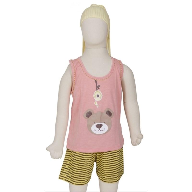 Baby doll nadador infantil em malha R36.A GOIABA URSO
