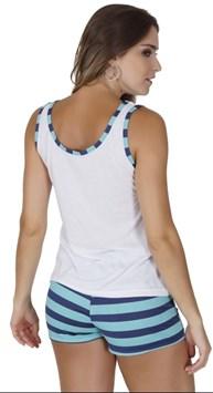 Baby doll plus size cintura alta em malha e elástico embutido AA11.B