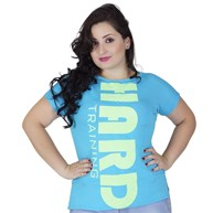 Blusa fitness plus size em malha com estampa personalizada AA42.A