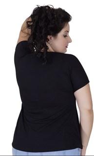 Blusa fitness plus size em malha furadinha com estampa AA47.A