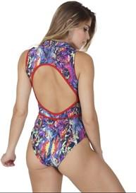 Body fitness costas nua em suplex estampado V104