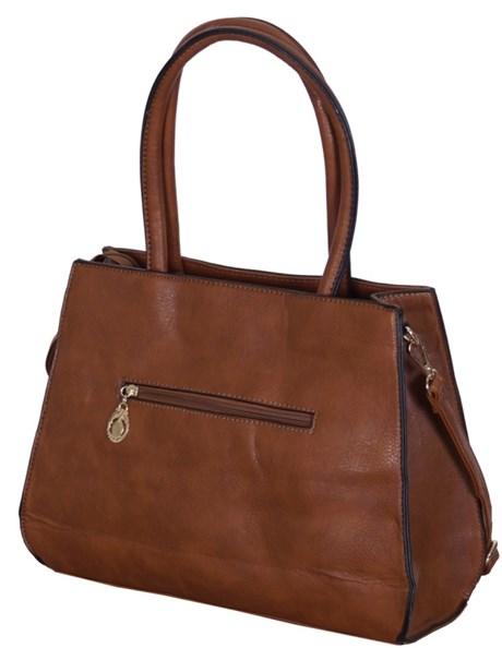 Bolsa tiracolo em material sintético com alça removível e bolso externo W01.C
