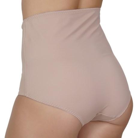 Calça cinta modeladora em cetinete liso com renda P18