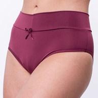 Calça em microfibra lisa com cintura alta e cós dobrado A76.A