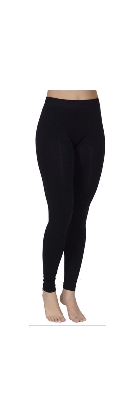 Calça fitness conforto legging sem costura em microfibra lisa V04.B