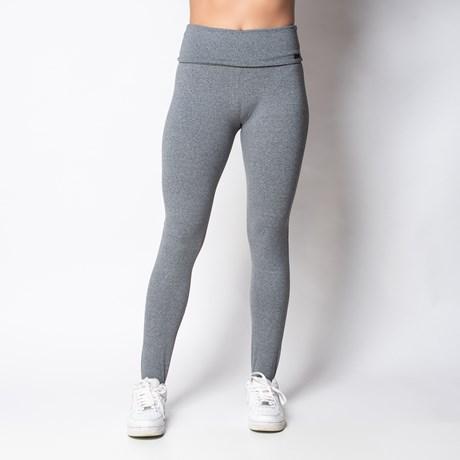 Calça fitness de pézinho em suplex liso com cós dobrado V19.C