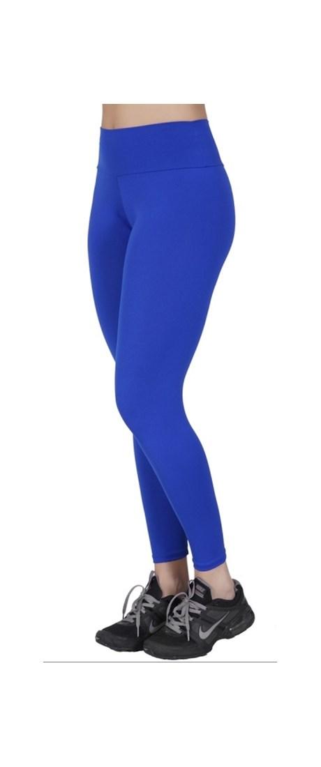 Calça fitness fusô em poliéster liso com cós largo V123.B