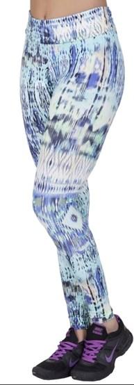 Calça fitness fusô em suplex estampado com cós dobrado V118.B