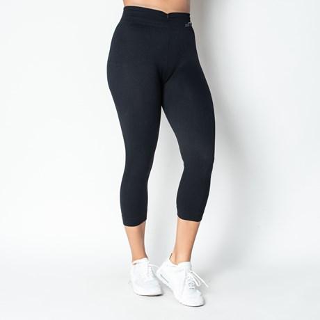 Calça fitness legging corsário conforto com detalhe canelado V15.C