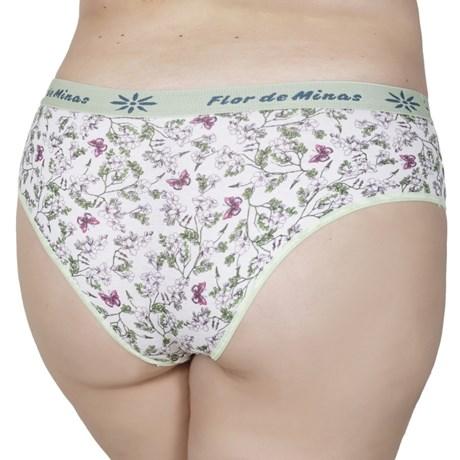 Calça plus size em algodão estampado com elástico exposto AA65.B