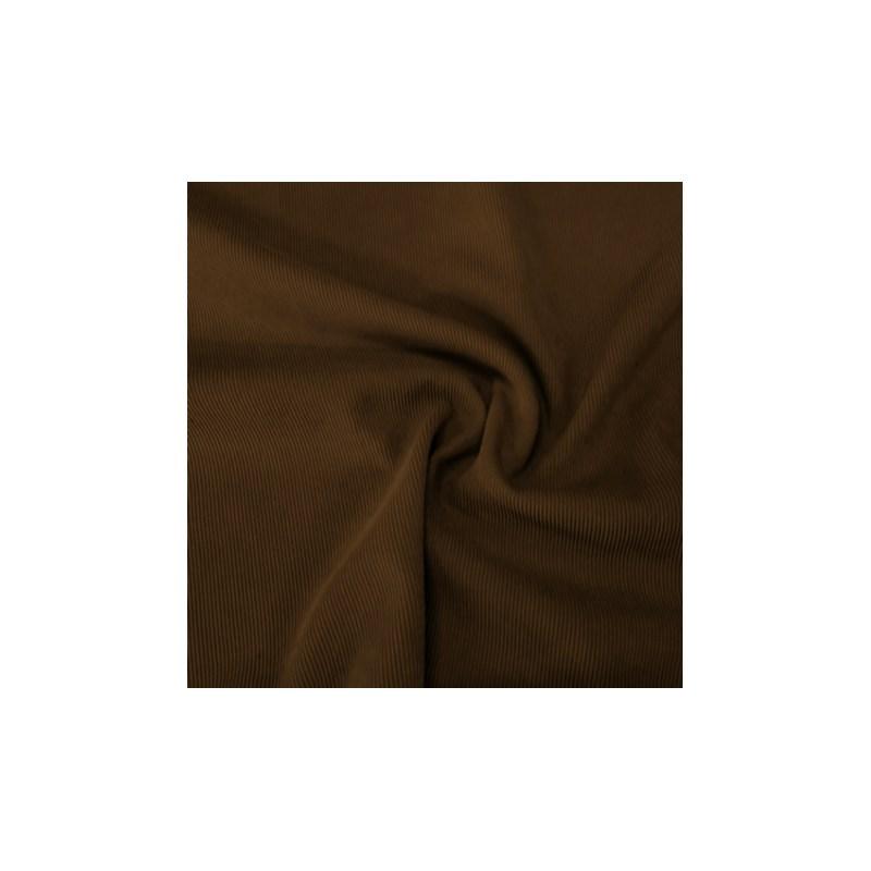 Calcinha básica em algodão liso com elástico exposto e tule B89.B MARROM