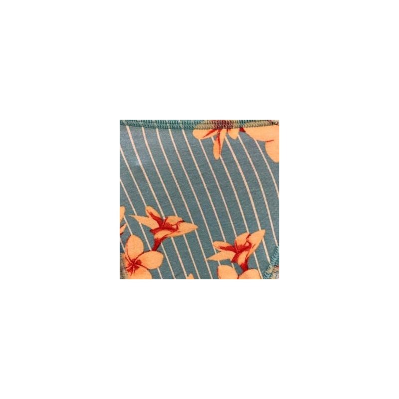 Calcinha básica em microfibra estampada com lacinho B24.B AZUL CLARO VARIADO