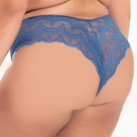 Calcinha Biquini Plus Size Sexy em Renda Com Lateral Larga AA16.B