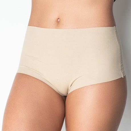 Calcinha conforto em cotton liso fio dental cintura alta B05.D