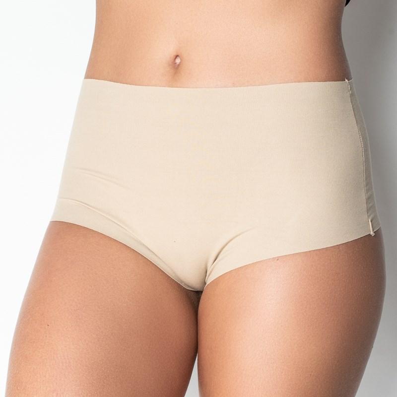 Calcinha conforto em cotton liso fio dental cintura alta B05.D ca654eb27d3