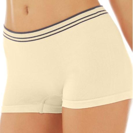 Calcinha Cueca Boxer em Microfibra Premium Conforto com Lurex no Cós B39.F