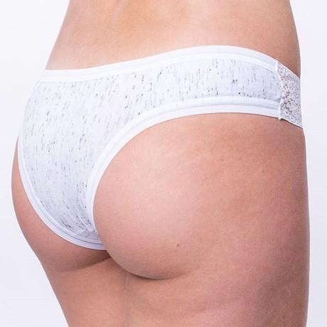 Calcinha em algodão liso com elástico exposto e detalhe em renda B149.A