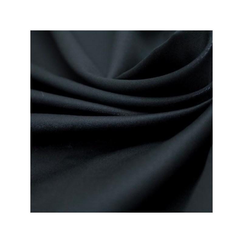 Calcinha em algodão liso com elástico exposto e detalhe frontal B142.C PRETO