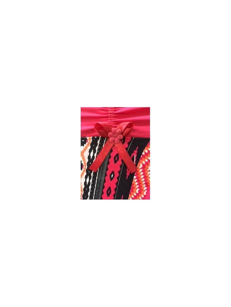Calcinha em viscolycra estampada com drapeado e elástico exposto B245.A ROSA ESCURO VARIADO