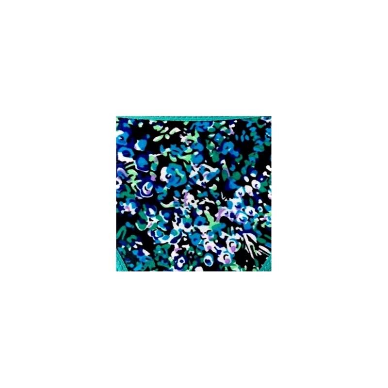 Calcinha em viscolycra estampada com renda e elástico exposto B203.A VERDE ESCURO VARIADO