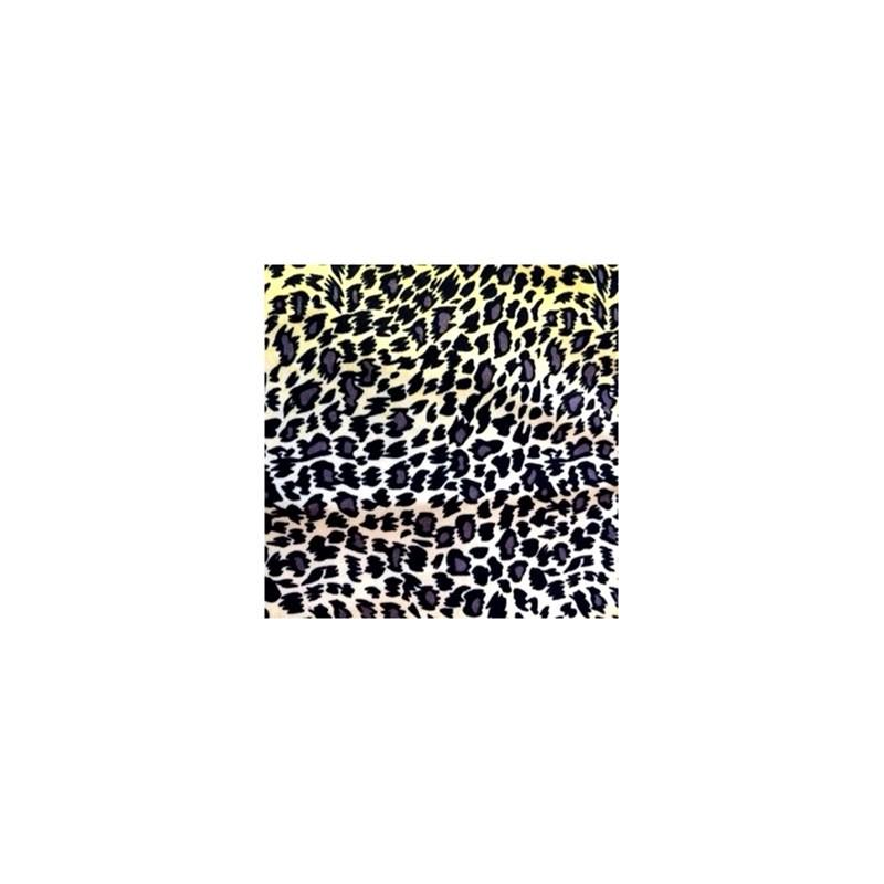 Calcinha em viscolycra estampada com renda e lacinho B237.A CREME VARIADO
