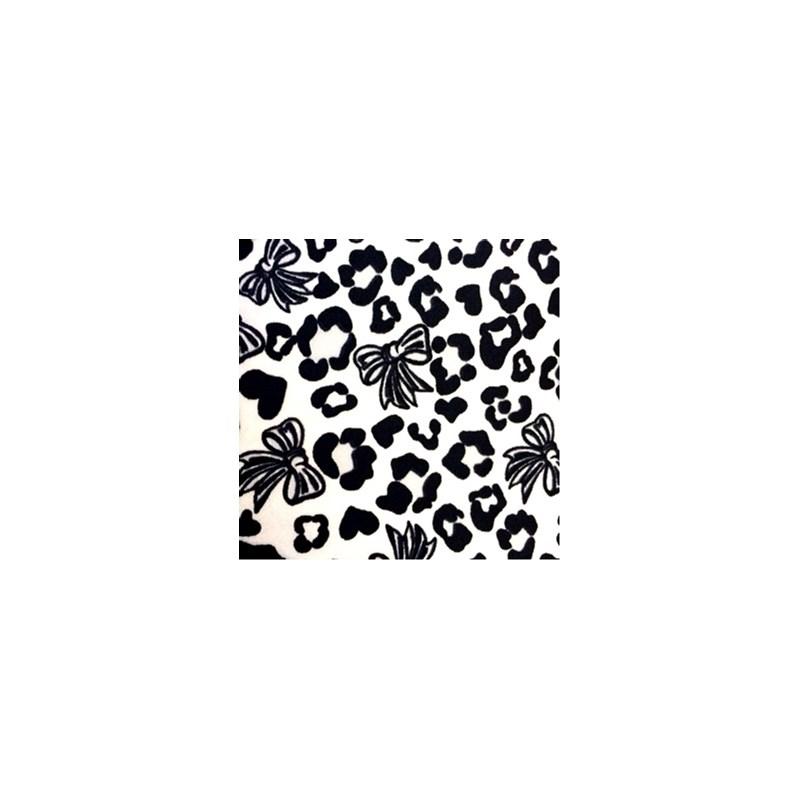 Calcinha infantil básica em algodão estampado N37 PRETO VARIADO