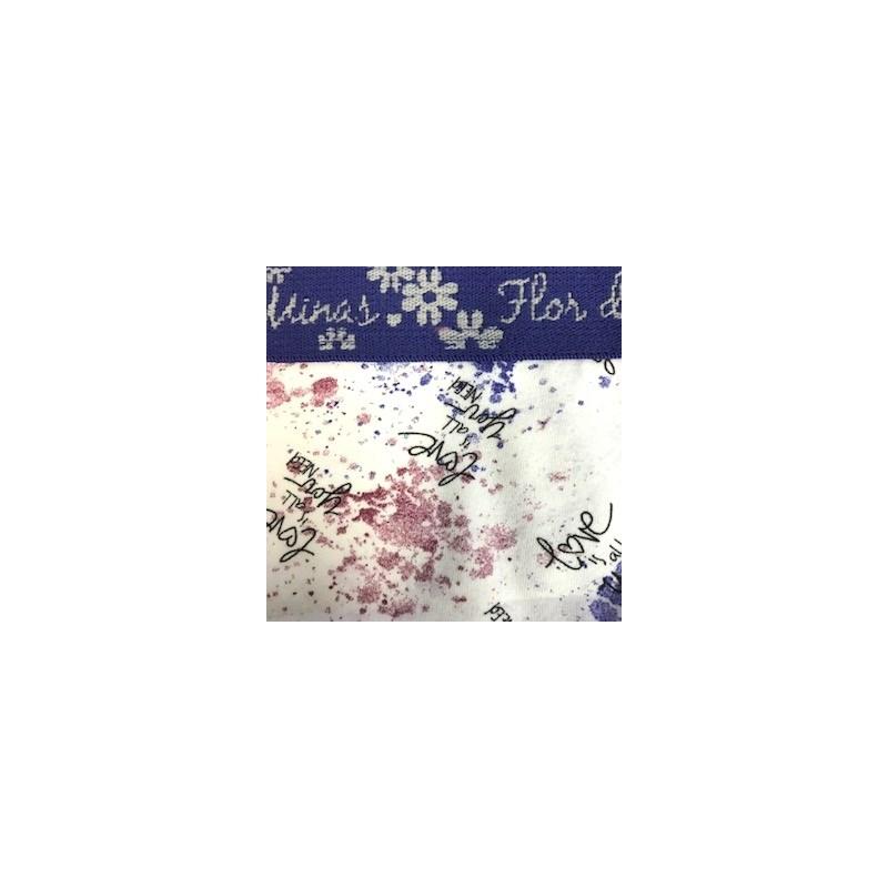 Calcinha infantil em algodão estampado com elástico exposto N26.A AZUL ESCURO VARIADO