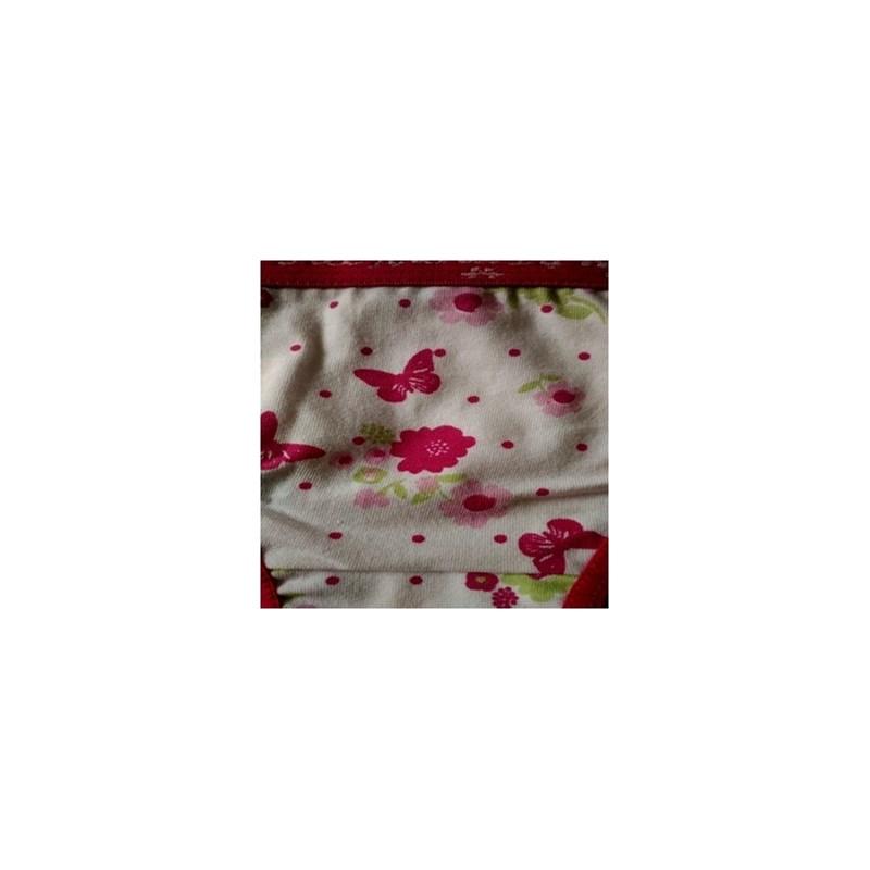 Calcinha infantil em algodão estampado com elástico exposto N26.A ROSA ESCURO VARIADO
