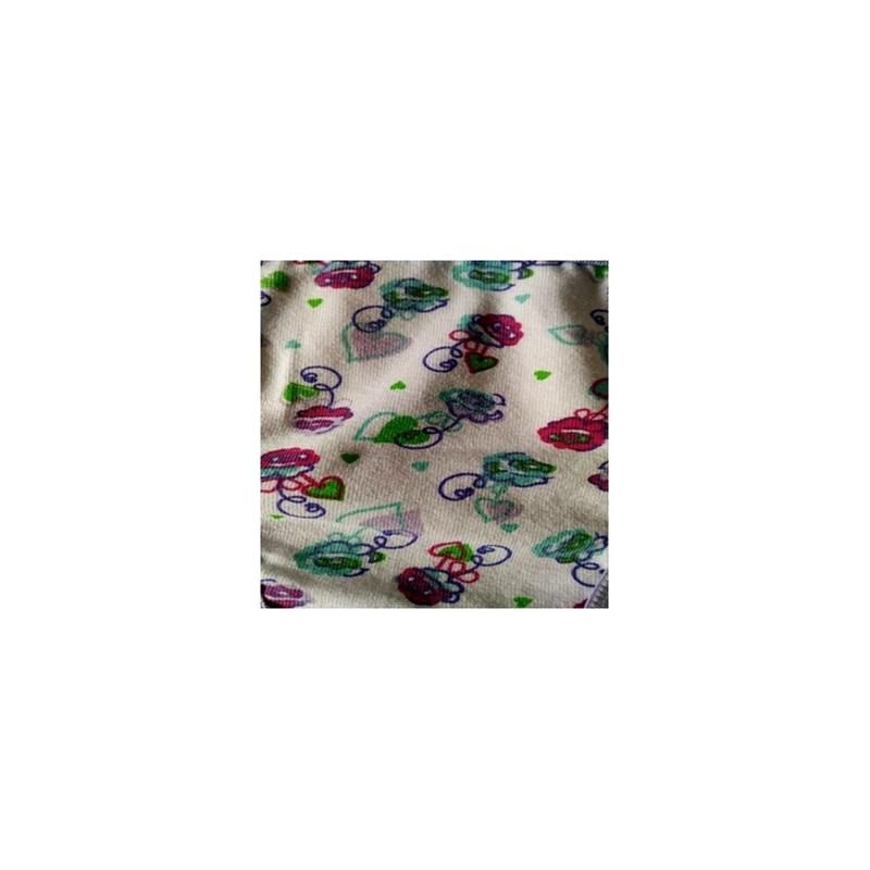 Calcinha infantil em algodão estampado com elástico exposto N26.A LILÁS VARIADO
