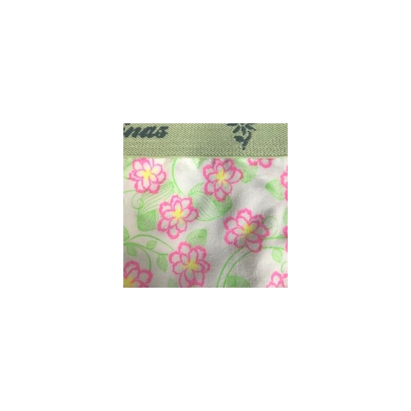 Calcinha infantil em algodão estampado com elástico exposto N26.A VERDE CLARO VARIADO
