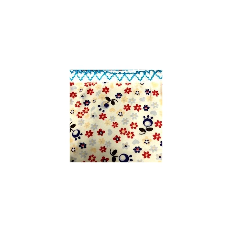 Calcinha infantil em algodão estampado com viés personalizado N33.A AZUL ESCURO VARIADO