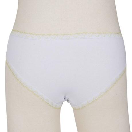 Calcinha infantil em algodão liso com viés personalizado N37.A