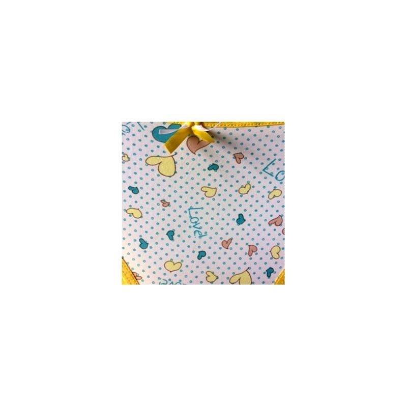 Calcinha infantil em microfibra com viés em elástico exposto N40.B AMARELO VARIADO