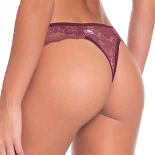 Calcinha Sexy em Renda com Cós Elástico e Detalhe em Laço F30