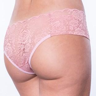 Calcinha Sexy em Renda Lateral Larga com Detalhe de Laço B74.C