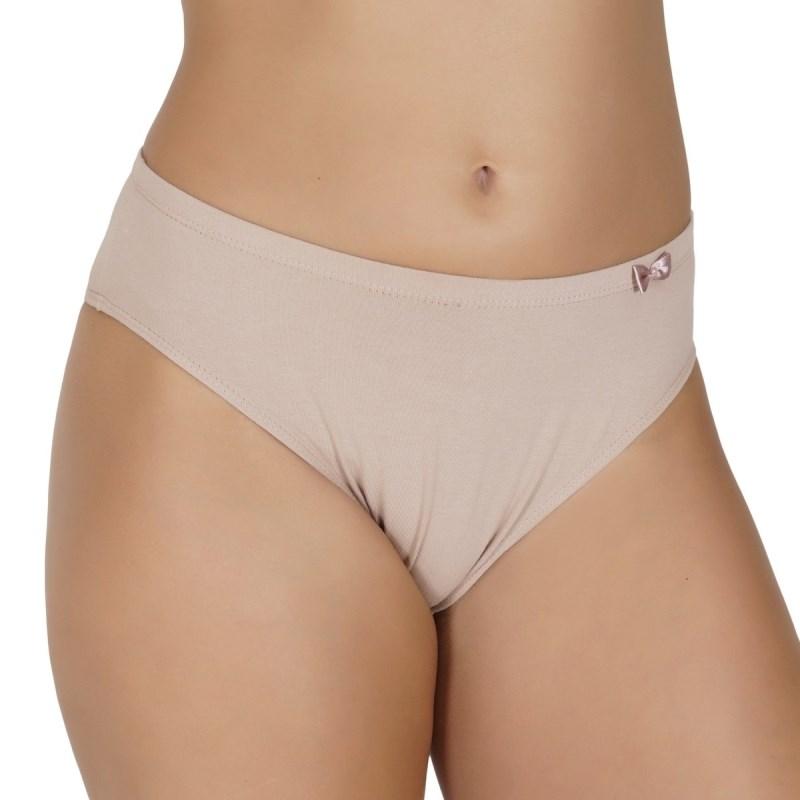 Calçola básica em algodão liso com elástico embutido e lacinho A51.C CHOCOLATE