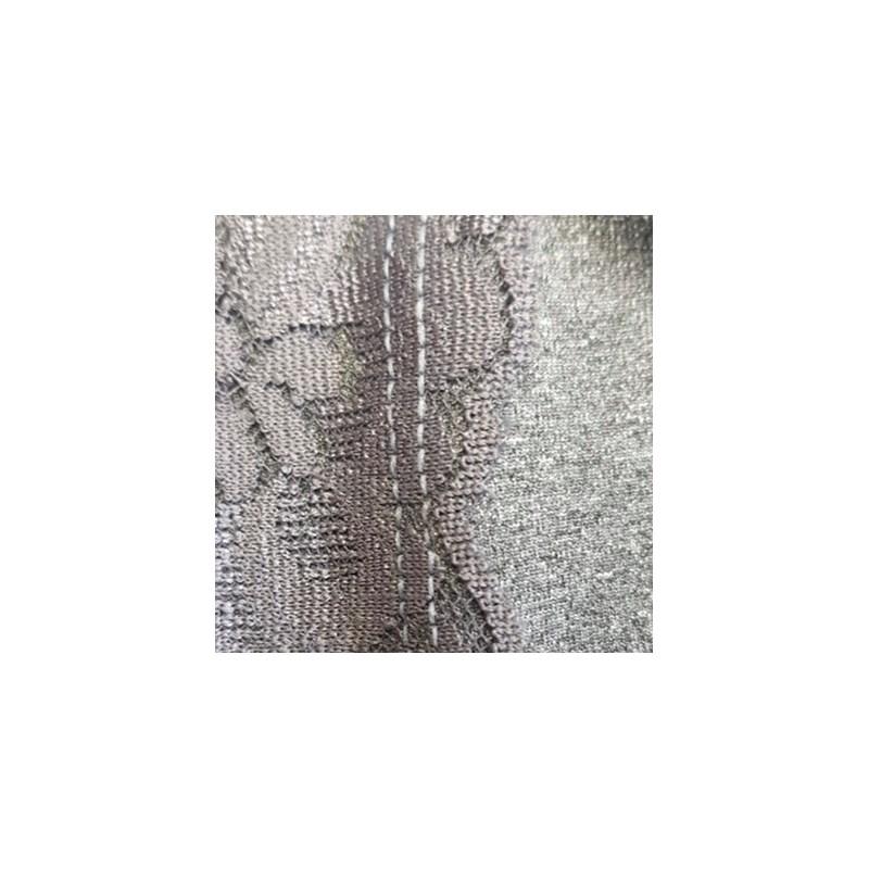 Calçola em Lycra Dulorem e Renda com Cós Cintura Alta A79.B GRAFITE COM GRAFITE