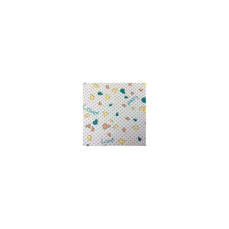 Calçola em microfibra estampada com cós em renda elástica A26.A AMARELO VARIADO