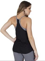 Camiseta fitness nadador em microfibra lisa com sobreposição V55.B