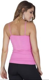 Camiseta modeladora sem costura em microfibra lisa com drapeado P36