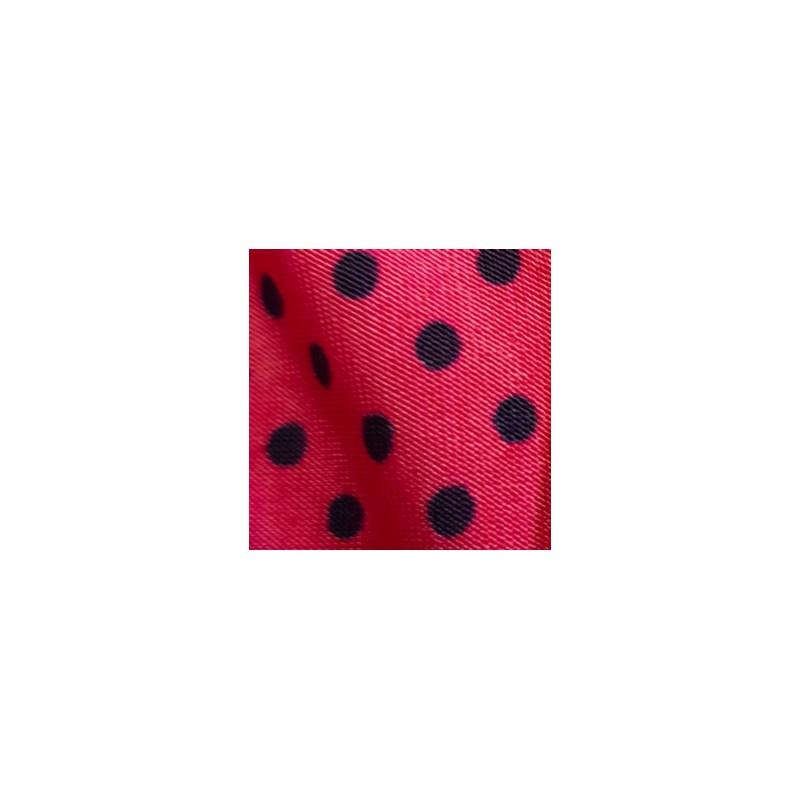 Camisola em Microfibra com Detalhe em Renda e Laço O08.C ROSA ESCURO BOLINHA