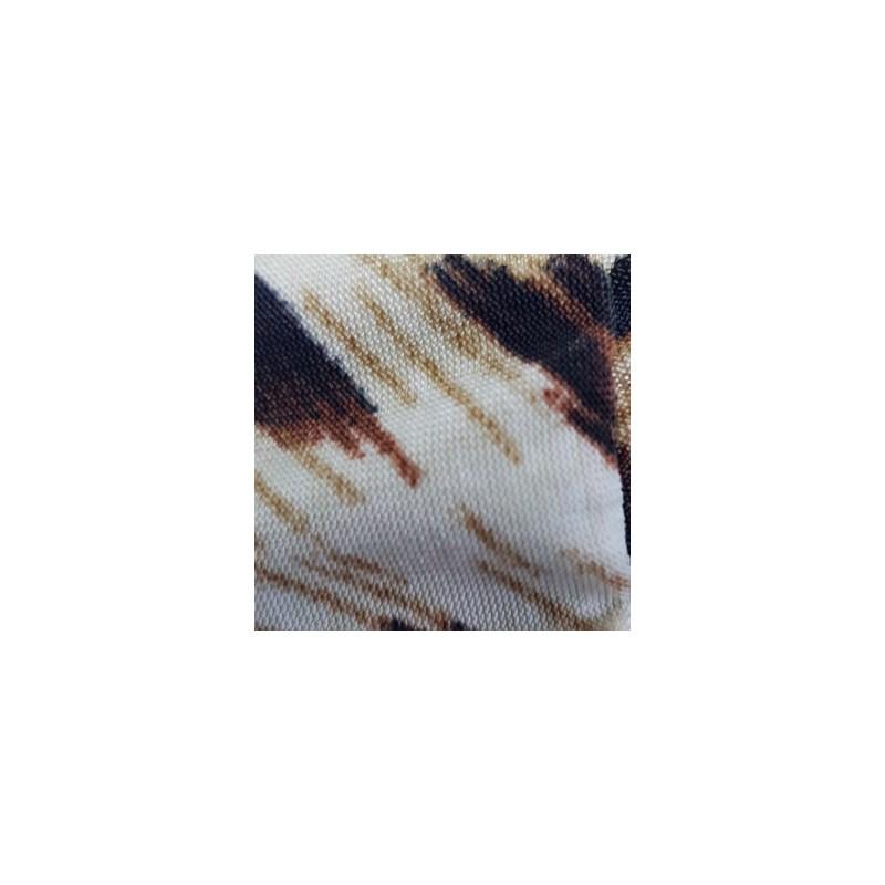 Camisola em Microfibra com Detalhe em Renda e Laço O08.C CREME ONÇA