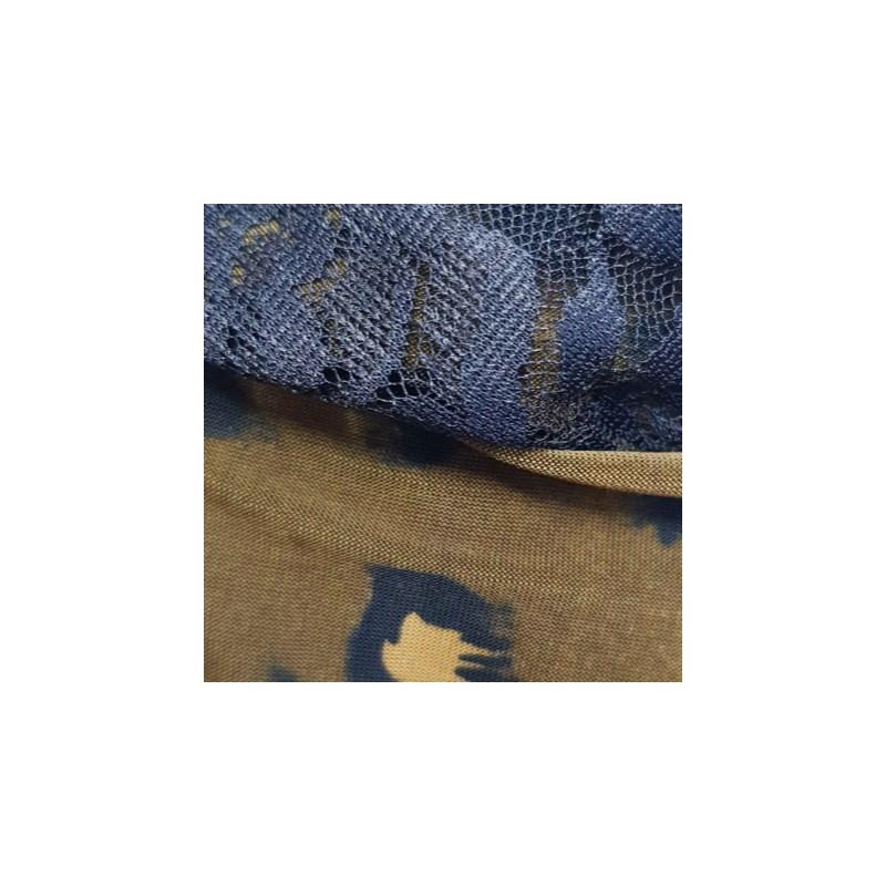 Camisola em Microfibra com Detalhe em Renda e Laço O08.C MARROM ONÇA