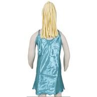 Camisola infantil com alças reguláveis com robe em cetim liso R45