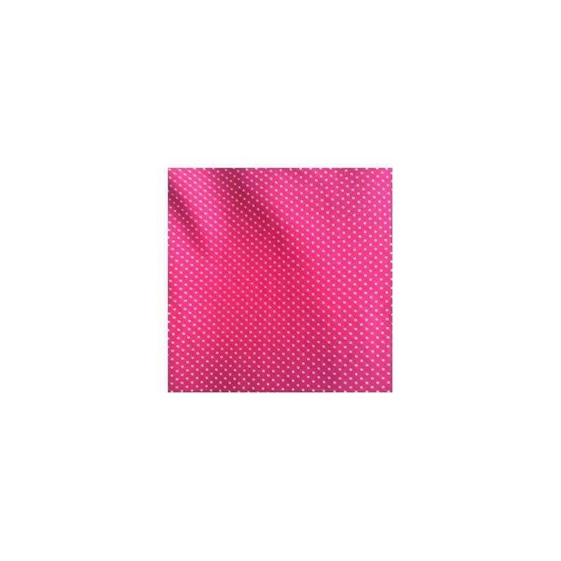 Camisola sem bojo em liganete estampada com renda e laço O15.B ROSA BOLINHA